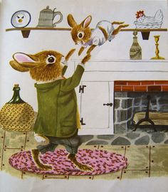 Richard Scarry illustrations and stories are my favorite. My mom read them to me growing up. Now I'm reading them to my son. Richard Scarry, Beatrix Potter, Bunny Art, Bunny Book, Children's Picture Books, Little Golden Books, Children's Book Illustration, Vintage Children's Books, Oeuvre D'art