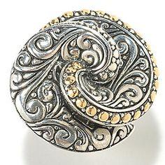 Artisan Silver by Samuel B. Polished Sterling Silver Swirl Ring