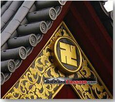 Swastikas on Japanese Buddhist Temple