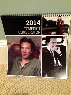 Tom Hiddleston and Benedict Cumberbatch Calendar - I would like to have this. :)