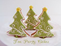 Gingerbread Christmas Trees by Tea Party Cakes