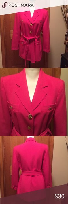 GORGEOUS KASPER fully lined jacket - NWOT NWOT KASPER dark pink with gold buttons A fully lined dressy/CLASSY jacket. Lining is as gorgeous as the outer part of the jacket. Truly LOVELY in every way. Kasper Jackets & Coats