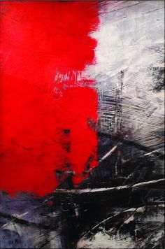 Some people would try to say this isn't art and that anyone could do it. Painting by Ivo Stoyanov. Action Painting, Painting & Drawing, Painting Abstract, Texture Painting, Red Abstract Art, Monochrome Painting, Texture Art, Painting Inspiration, Color Inspiration