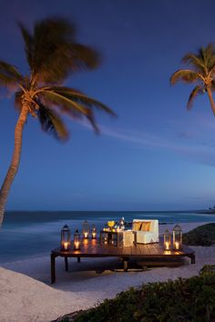 Private dining on the beach at Dreams Tulum resort