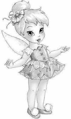 Looks like tink Fairy Drawings, Disney Drawings, Disney Fairies, Tinkerbell, Baby Disney Characters, Art Disney, Fairy Art, Illustrations, Princesas Disney