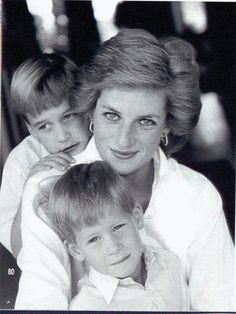 Princess Diana with her boys