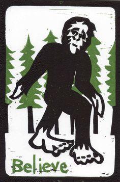 Bigfoot Postcard.