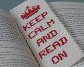Cross Stitch Bookmark Pattern: Keep Calm And Read On ETSY