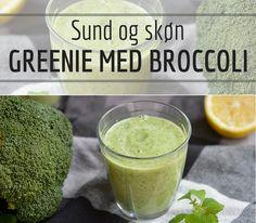 Frisk og sund greenie med broccoli, citron og avocado, der gør den dejligt cremet.