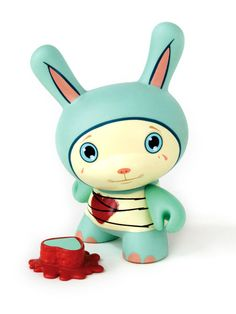 Lonely Heart Ion Dunny by Tara McPherson (2005). For LA Artist Series Dunny.