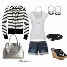 Black and White Casual Summer.