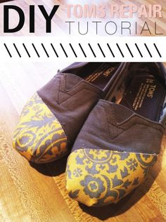 I don't have TOMS that need to be repaired... but I like this! Maybe a similar approach could be used for other forms of fabric repair.