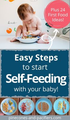 Don't be scared of self-feeding! Start here to learn how to start self-feeding with your baby 6-10 months old. Plus 24 first food ideas and baby-led weaning tips. #babyledweaning #babyfood #firstfoods Baby Self Feeding, Baby Feeding Schedule, Baby Hacks, Baby Tips, 8 Month Old Baby, Kids And Parenting, Parenting Hacks, Solids For Baby, Healthy Toddler Meals
