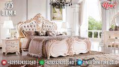 New Model Tempat Tidur Mewah Jepara Ameli Classic Ivory DF-1315