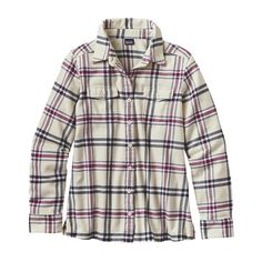 Patagonia Women\'s Long-Sleeved Fjord Flannel Shirt - Windrow: Violet Red WWVR