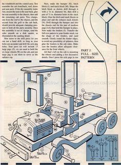# 2152 Planuri de camioane din lemn jucărie - Planuri de lemn de jucărie