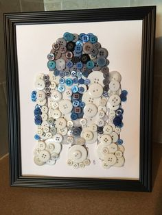 Star Wars Inspired R2D2 Silhouette Button Art In Frame.  | eBay