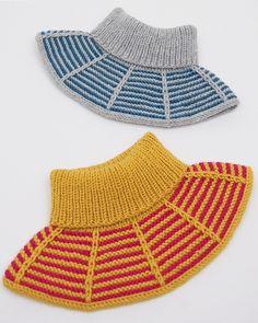 Ravelry: Rillestripehals / Garter Stripes Collar pattern by Strikkelisa Knit Or Crochet, Crochet Shawl, Baby Barn, Big Knit Blanket, Big Knits, Collar Pattern, Knitted Bags, Knitting Patterns, Cowl Patterns
