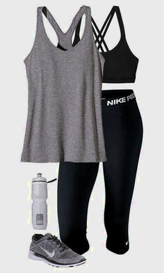 Cool stylish summer workout outfits for women - gym outfit ideas nike workout clothes, nike Summer Workout Outfits, Workout Attire, Workout Wear, Workout Style, Week Workout, Womens Workout Outfits, Workout Routines, Workout Plans, Fitness Outfits