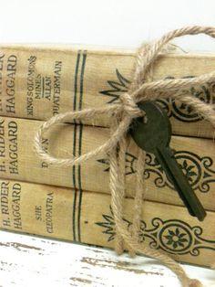 Fall Decor,Shabby Chic,Neutrals , Old Books For by beachbabyblues, $55.00