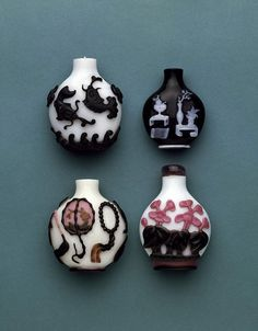 Antique Chinese glass Snuff bottles