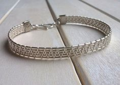 Wire Wrapped Bangle  Woven Bangle  Wire Wrapped by EmmaWyattArt, £16.50