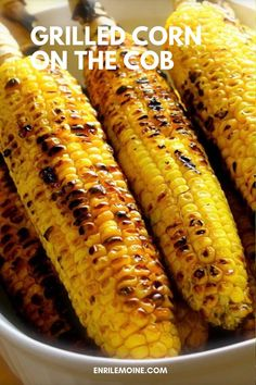 Corn ears, salt, pepper, and butter are all you need to enjoy the best grilled corn on the cob. Click for the recipe #byenrilemoine #enrilemoine #grilledcornonthecob #howtogrillcornonthecob #cornonthecon #BBQ #FourthOfJulyRecipe #SummerRecipe Easy Summer Meals, Summer Recipes, My Recipes, Snack Recipes, Corn On The Con, Grilled Corn On Cob, Ears Of Corn, Fourth Of July Food, My Best Recipe