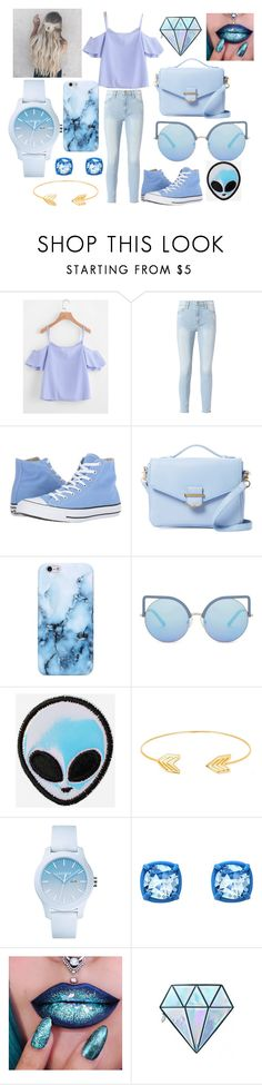 """Untitled #10"" by angyeisnotonfire2 on Polyvore featuring Frame, Converse, Cynthia Rowley, Matthew Williamson, Lord & Taylor, Lacoste, Atelier Swarovski and Unicorn Lashes"