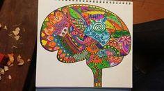 Zendala cerebro de colores