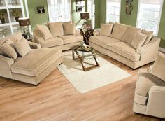 Sofa & Love Seat Set Sm5022 Brighton Collection