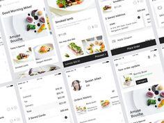 Food Delivery app UI Kit designed by Ajinkya Bhagwat. Smoked Lamb, Restaurant App, Delivery App, Ui Kit, App Ui, How To Apply
