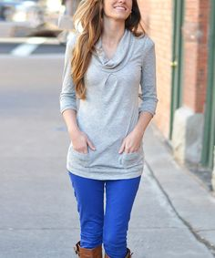This Heather Gray Perfect Tunic by So Perla is perfect! #zulilyfinds