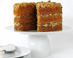 Carrot Cake with Pecan Coconut Frosting by moderncomfortfood #Cake #Carrot #moderncomfortfood