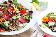 Blood Orange Salad with Citrus Basil Dressing