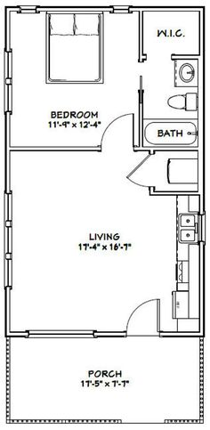 PDF house plans, garage plans, & shed plans. 1 Bedroom House Plans, Cottage House Plans, Craftsman House Plans, Guest House Plans, Backyard Cottage, Guest Houses, Tiny Houses, House Plan With Loft, Small House Floor Plans