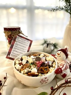 Nativity Christmas Story Trail Mix + Free Printable - A Hundred Affections