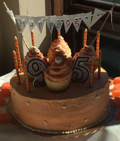 Orange birthday cake