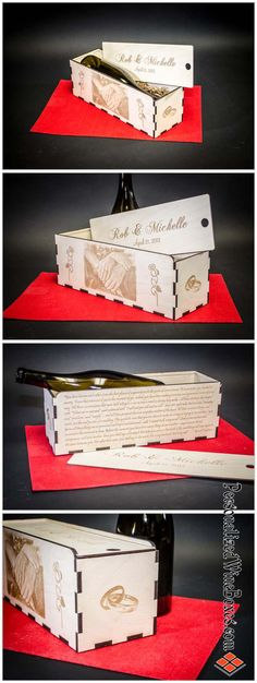 Looking for the ideal #Wedding Gift? I make #wine wood boxes that are personalized by laser; Names, Dates, Poems, Sayings, Verses, Graphics or Photos. I look forward to collaborating with you for a stunning memorable gift. $45 plus shipping (USA only), wine not included!