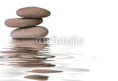 Fototapete Zen - galets dans l'eau