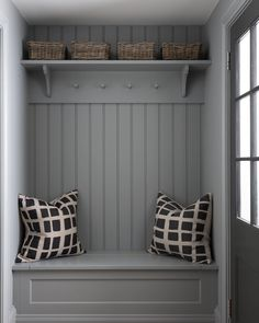Back Porch/Mudroom/Boot Room Boot Room Storage, Porch Storage, Coat Storage, Extra Storage, Hallway Storage Bench, Wall Storage, Boot Room Utility, Utility Room Designs, Flur Design