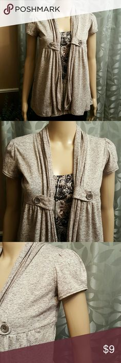 Wet Seal Top Like new condition  Adorable lace back Shirt underneath is not included Grayish/tank color Wet Seal Tops