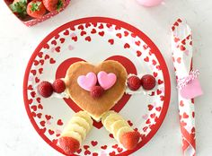 Are you looking for a fun Valentine's Day breakfast idea for your kiddos this year? We have this cute and simple heart shaped Valentine's inspired pancake that will be sure to start your Valentine's Day off right!