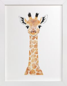 """Baby Giraffe - Kids Open Edition Non-custom Art Print by Cass Loh. - BettiS - ""Baby Giraffe - Kids Open Edition Non-custom Art Print by Cass Loh. Baby Giraffe 2 Wall Art Prints by Cass Loh Giraffe Painting, Giraffe Art, Cute Giraffe Drawing, Giraffe Decor, Baby Wall Art, Art Wall Kids, Art Kids, Animal Paintings, Animal Drawings"