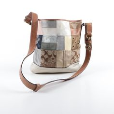1372642d83b2 Coach canvas and leather bag on ebth...has square leather tag inside with