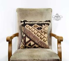 Natural Undyed Decorative Nomad Handwoven by AnatoliaCollection