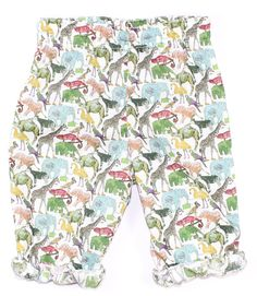 Liberty Print 'Queue for the Zoo' Trousers