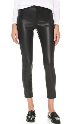 Blank Denim The Principle Mid Rise Vegan Leather Skinny Pants | SHOPBOP