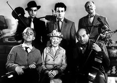 The Ladykillers (1955). Directed by Alexander Mackendrick and starring Alec Guinness, Peter Sellers and Herbert Lom.