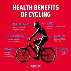 疾風!自転車! - livenedup: Cycling Promotes Heart Health and. Benefits Of Exercise, Health Benefits, Health Tips, Nutrition Tips, Tips Fitness, Fitness Motivation, Health Fitness, Cycling Motivation, Bicycle Workout