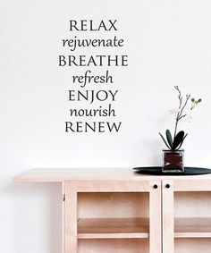Relax Rejuvenate Refresh Wall Decal Face Lifting Wall Decals - Wall decals relax